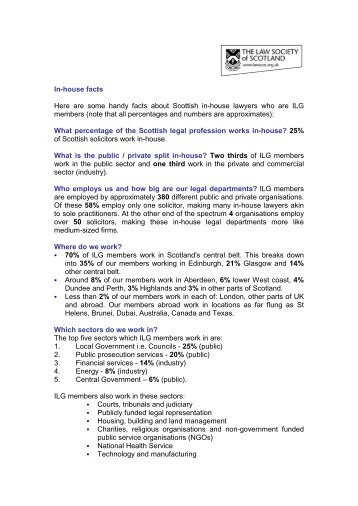 In-house Facts - Law Society of Scotland
