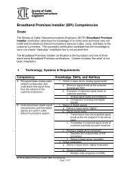 Broadband Premises Installer (BPI) Competencies