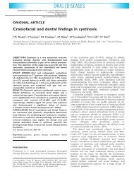 Craniofacial and dental findings in cystinosis - ResearchGate