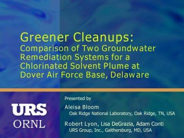 Greener Cleanups: - E2S2