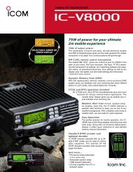 75W of power for your ultimate 2m mobile experience - Icom France