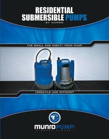 Residential Pump Brochure - Munro Companies