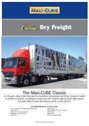 Classic Dry Freight - SX Trailers