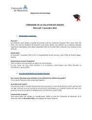 CÉRÉMONIE DE LA COLLATION DES GRADES Mercredi 7 ...