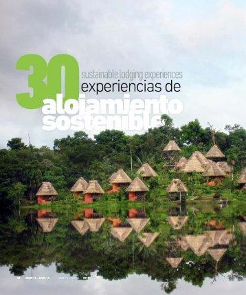30 experiencias de alojamiento sostenible - Abordo.com.ec