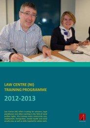 Training Programme 2012-13 - Law Centre NI