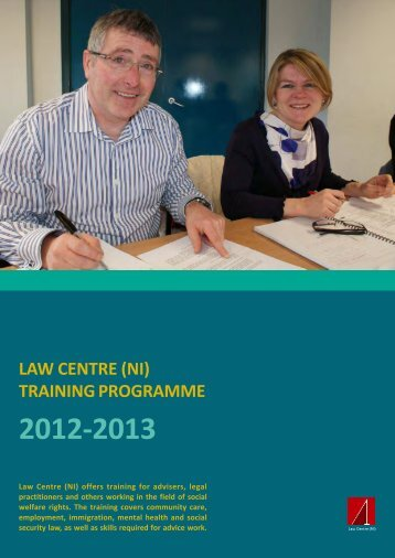 Training Programme 2012-13 - Law Centre NI