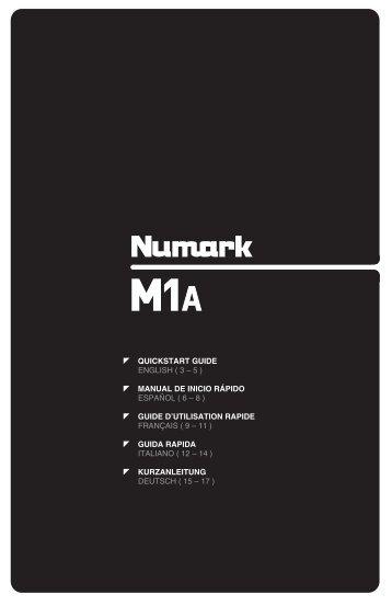 M1A Quickstart Guide - v1.0 - Numark