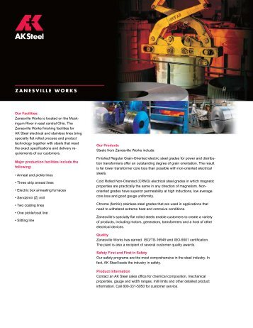 Zanesville Works (PDF) - AK Steel