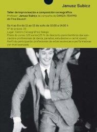 Descarga o .pdf do curso - Centro Dramático Galego