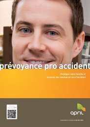 Prévoyance Pro Accident APRIL, une assurance APRIL