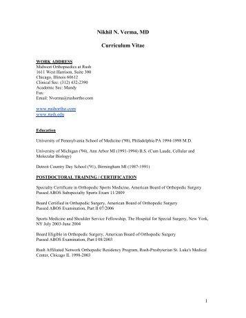Curriculum Vitae - OrthoCentrix Solutions