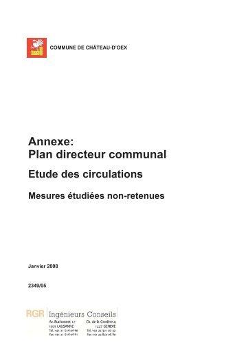 Annexe: Plan directeur communal - Château-d'Oex
