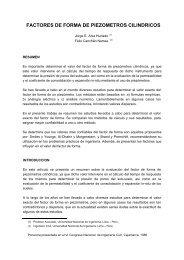 factores de forma de piezometros cilindricos - Cismid - Universidad ...