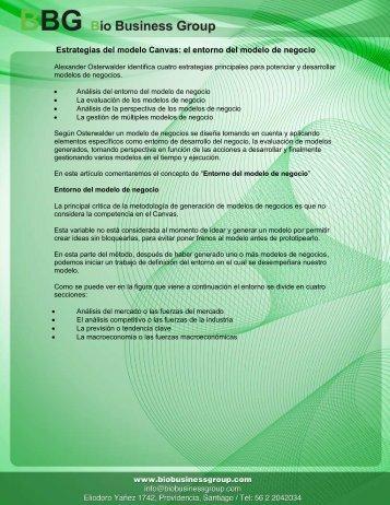 el entorno del modelo de negocio - biobusinessgroup