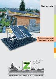 Planungshilfe Solarenergie und Dachbegrünung - ZinCo