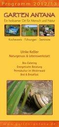 Aktuelles Programm 2012 / 2013 - Garten Antana
