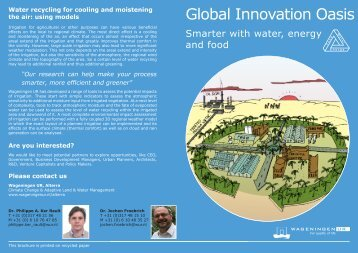 Global Innovation Oasis - The Water, Energy and Food Security Nexus