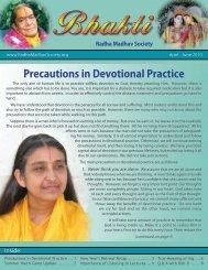 Download Newsletter - Radha Madhav Society