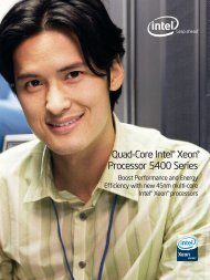 Quad-Core Intel® Xeon® Processor 5400 Series - Intel szerver portál