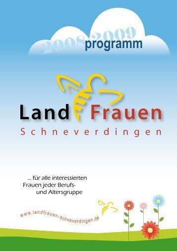 programm - LandFrauenverein Schneverdingen