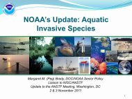 NOAA's Update - Aquatic Nuisance Species Task Force