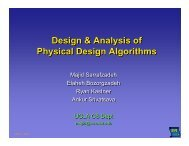 Design and Analysis of Physical Design Algorithms - ISPD