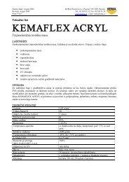 KEMAFLEX ACRYL - Kema.si