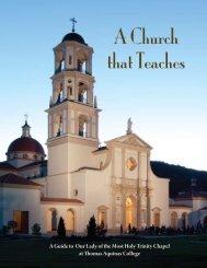 A Church That Teaches (PDF) - Thomas Aquinas College