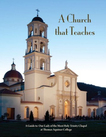 A Church That Teaches (PDF) - Thomas Aquinas College