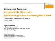 Urologische Tumoren - Krebsregister NRW
