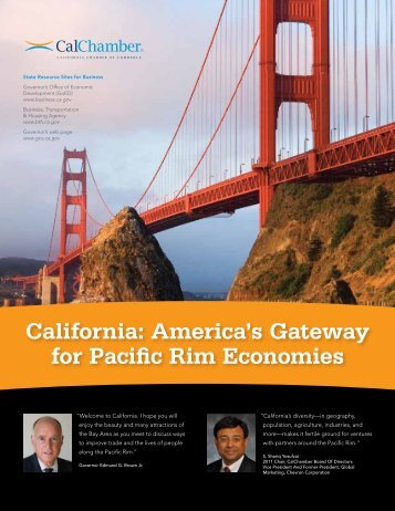 America's Gateway for Pacific Rim Economies - California Chamber ...
