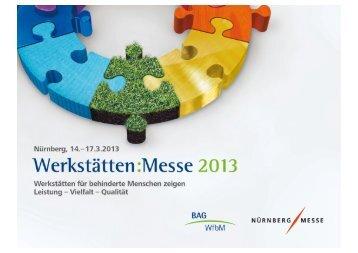 Aussteller-Info zum UnternehmerTREFF 2013 titel - Werkstätten:Messe