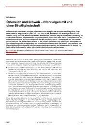 Österreich und Schweiz – Erfahrungen mit und ... - Fritz Breuss - Wifo