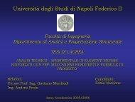V - Dipartimento di Analisi e Progettazione Strutturale - Università ...