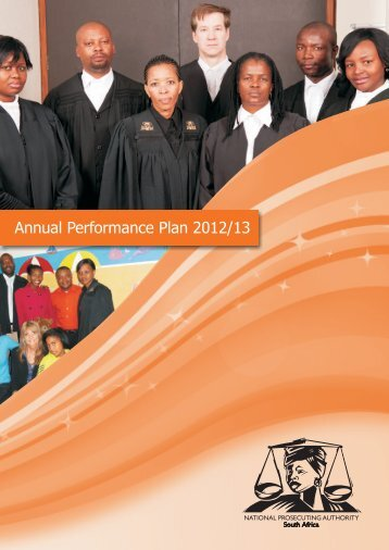 NPA Annual Performance Plan 2012-13 - National Prosecuting ...