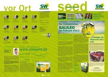 zeigte 2010 auf D- und V-Standorten mit relativ - SW Seed GmbH