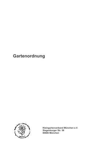 Gartenordnung vom Kleingartenverband-München e.V.