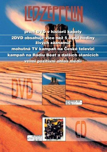 první DVD v historii kapely 2DVD obsahuje více než 5 a půl hodiny ...