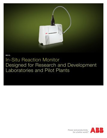 MB-Rx FT-IR Analyzer for In-Situ Reaction Monitoring Brochure