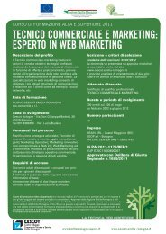 tecnico commerciale e marketing - Nuovo CESCOT Emilia Romagna