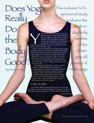 Does Yoga Really Do the Body Good? - American Council on Exercise