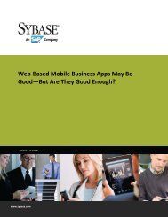 Web-Based Mobile Business Apps May Be Good—But ... - SAP.com