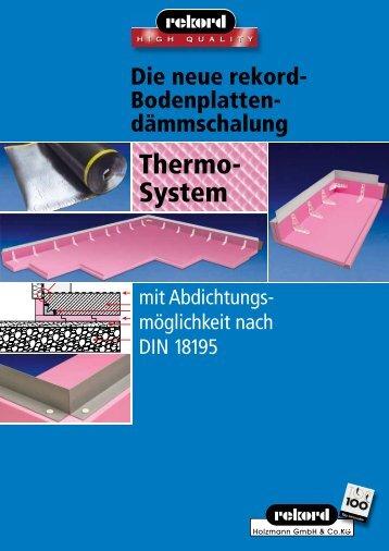 Thermo- System - Rekord Holzmann
