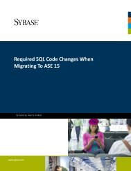 Required SQL Code Changes When Migrating To ASE 15 - Sybase