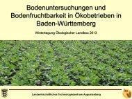 Bodenuntersuchung und Bodenfruchtbarkeit in Ökobetrieben - LTZ ...