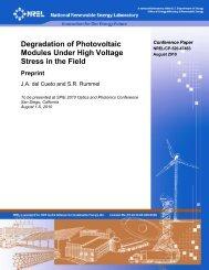 Degradation of Photovoltaic Modules Under High Voltage ... - NREL