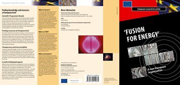 ' FUSION FOR ENERGY' - Europe's Energy Portal