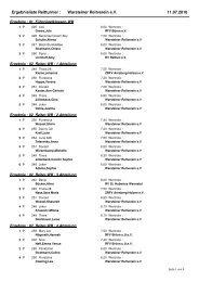 Ergebnisliste Reitturnier : Warsteiner Reitverein e.V. 11.07.2010