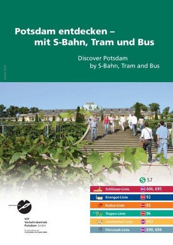 Potsdam entdecken – mit S-Bahn, Tram und Bus Potsdam ...